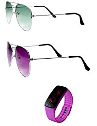 RST wayfarer sunglasses combo pack set of two with watch