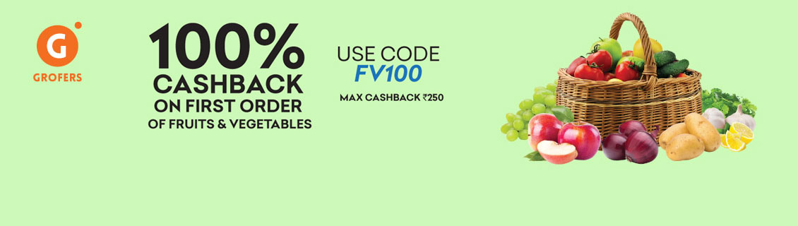 Flat 100% Cashback On First Order Coupon Code