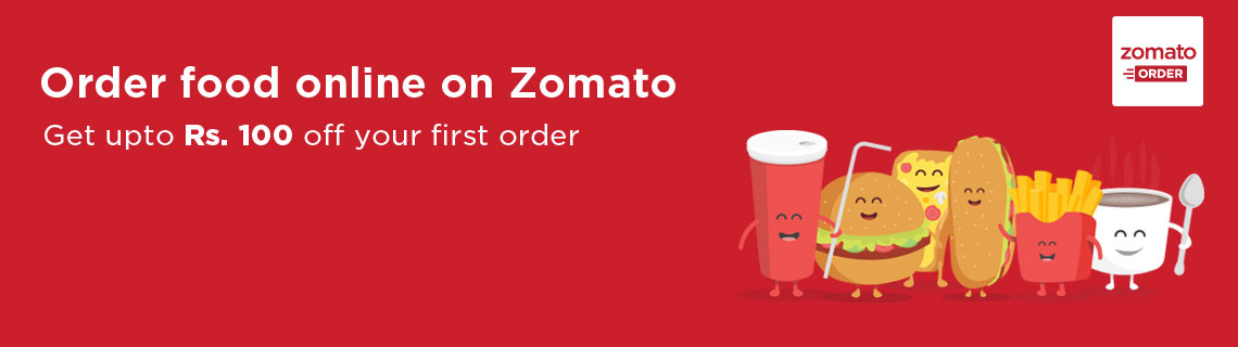 Get Upto Rs 100 OFF on First Food Order Coupon Code