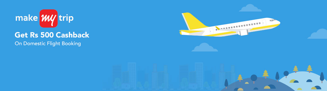 Rs 500 Cashback On Domestic Flight Booking Coupon Code
