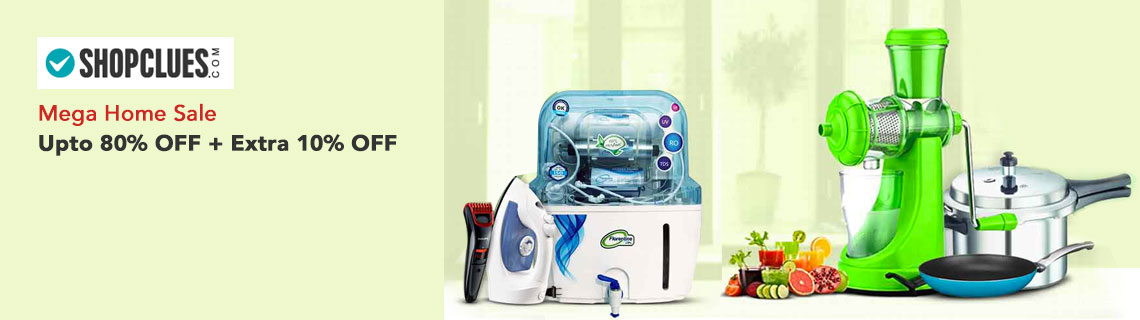 Upto 80% + Extra 10% Cashback on Kitchen & Home Essentials Coupon Code