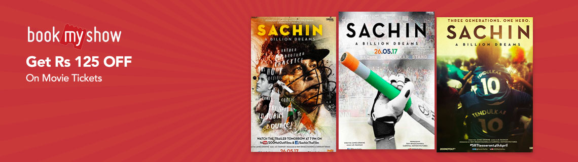 Flat Rs 125 OFF On Movie Tickets Coupon Code