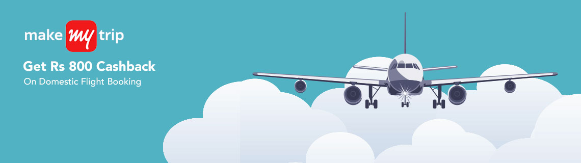 Rs 800 Cashback On Domestic Flight Booking Coupon Code