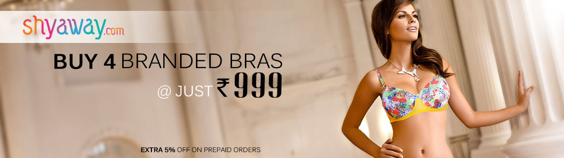 Buy 4 Branded Bras @ just Rs 999 Coupon Code